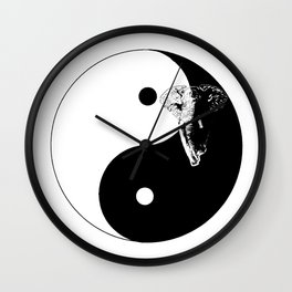The YIN YANG ELEFANT - LIFE CURRENT series... Wall Clock
