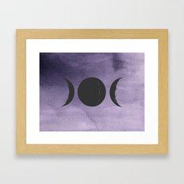 Triple Moon Goddess Framed Art Print