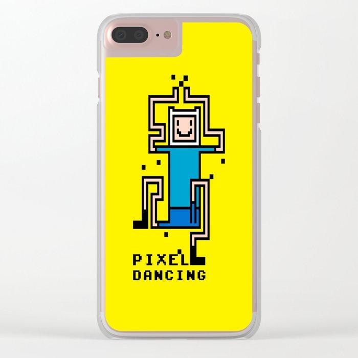 Pixel dancing Clear iPhone Case