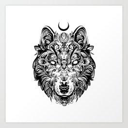 THE LONE WOLF Art Print