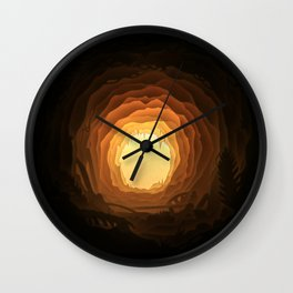 Cave, Papercut lightbox Wall Clock
