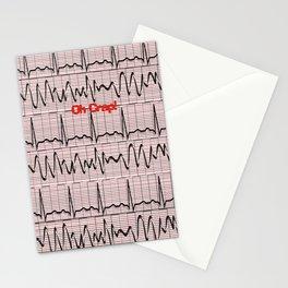 Cardiac Rhythm Strips EKG Stationery Cards