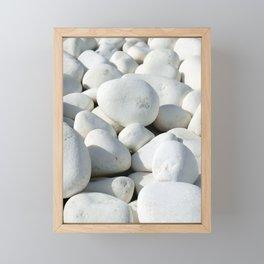 White stones Framed Mini Art Print