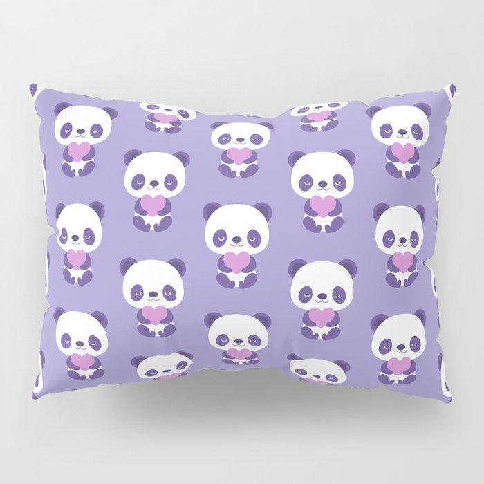 Cute purple baby pandas Pillow Sham