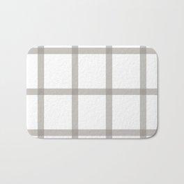Brown checkered art Bath Mat