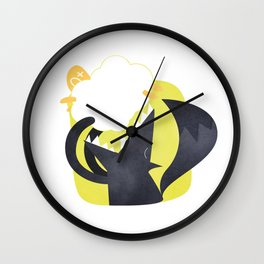 The Wolf and the Lamb Wall Clock