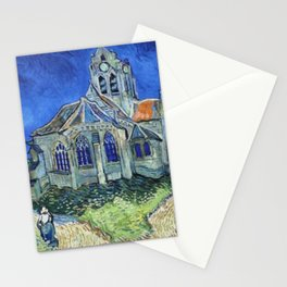 The Church at Auvers Vincent Van Gogh Stationery Cards