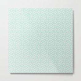 Mint Passion Thalertupfen White Pōlka Round Dots Pattern Pastels Metal Print