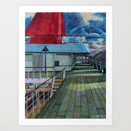 Veranda Deck Art Print