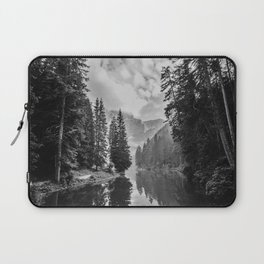Black and White River Forest Laptop Sleeve