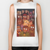 muppets Biker Tanks featuring The Muppets by Groovy Bastard