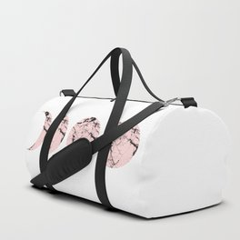 Pink Marble Moon Phases Duffle Bag