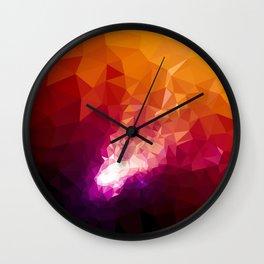 Galaxy Low Poly 44 Wall Clock