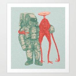 Alien & Astronaut Art Print