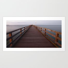 Seebad Binz Ostsee Rügen Foto Pier  Art Print
