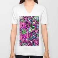 kirby V-neck T-shirts featuring Kirby Error by Coolthulhu