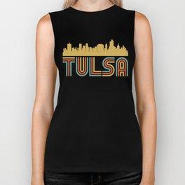 Vintage Style Tulsa Oklahoma Skyline Biker Tank