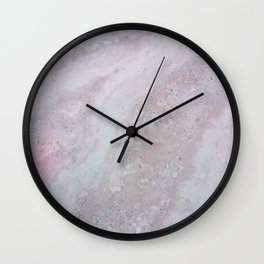 Elegant Pink Polished Marble Wall Clock