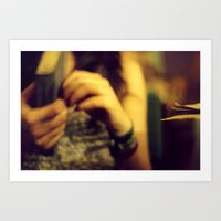 cafe Art Prints featuring Cafe by Dániel Marton