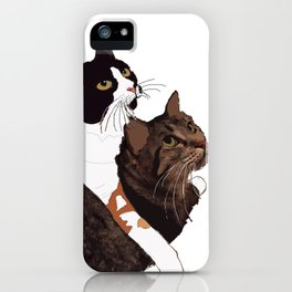 Two Cats iPhone Case
