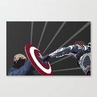 the winter soldier Canvas Prints featuring Winter Soldier by Kiss My Artse
