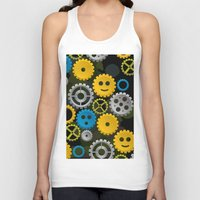 gears of war Tank Tops featuring Happy Gears by WIGEGA
