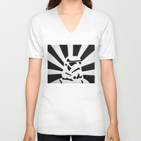 stormtrooper V-neck T-shirts featuring StormTrooper by Shelly Lukas Art