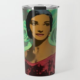 Maria Callas in Aqua Green Travel Mug