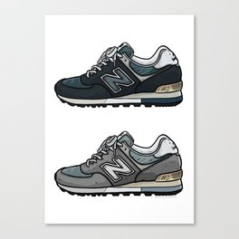 New Balance 576 illustration sneaker art Canvas Print