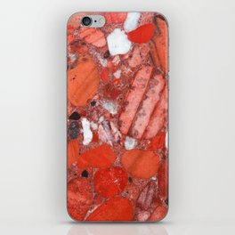 Conglomerate marble pebbles iPhone Skin