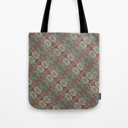 Autumn Green & Red Tote Bag