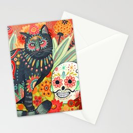 Dia De Los Muertos Cat Stationery Cards