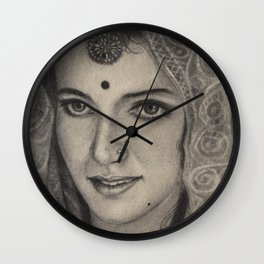 Rajastani Bride Wall Clock