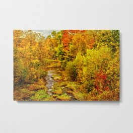 Autumn On The Ammonoosuc Metal Print