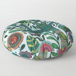 Leafy Garden Floor Pillow