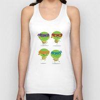 turtles Tank Tops featuring Turtles by Maria Jose Da Luz