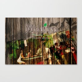 mojito beach style - barplace Canvas Print