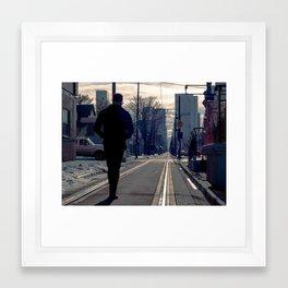 Rail Framed Art Print