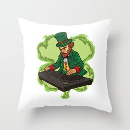 DJ Leprechaun Live On Stage - Irish Electro Music Throw Pillow