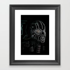 Glitchmask Zone Framed Art Print