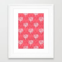 coral Framed Art Prints featuring Coral by Marta Li
