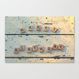 HAPPY BIRTHDAY Canvas Print