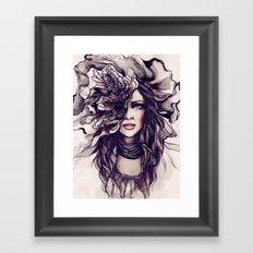 eyes of the same face Framed Art Print