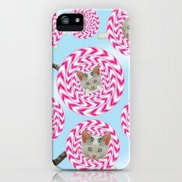 Krazy Kitty Spins iPhone Case