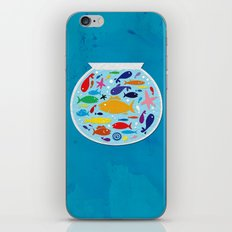 Big fish, little bowl.  iPhone & iPod Skin