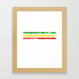 African American flag design Gift Africa Rasta Reggae Flag Framed Art Print