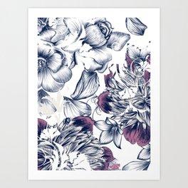 Flowers pattern 2 Art Print