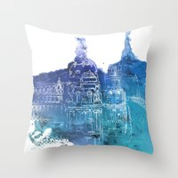 madrid Throw Pillows featuring Madrid by Ksenia Balakireva