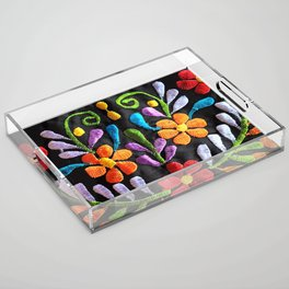 Mexican Flowers Acrylic Tray