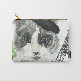 French Cat Mime in Paris Carry-All Pouch